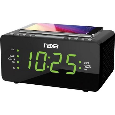 Naxa NRC-191 Desktop Clock Radio - Stereo - 2 x Alarm - FM - USB - image 1 of 1
