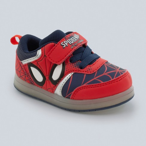 Toddler Boys' Marvel Spider-Man Light-Up Sneakers - Red - image 1 of 3