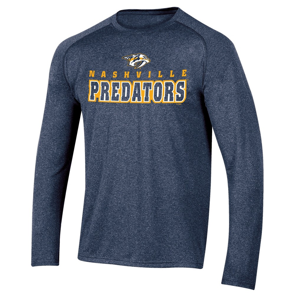 Nashville Predators Men's Goal Scorer Long Sleeve Performance T-Shirt S, Multicolored