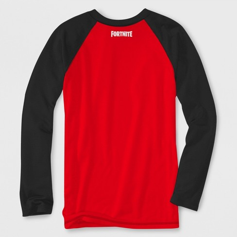 c05b705f Boys' Fortnite Skeleton Long Sleeve Raglan Graphic T-Shirt - Red/Black :  Target
