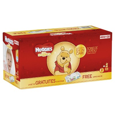 Huggies Little Snugglers Diapers Super Pack with Wipes - Size 3 (88ct)