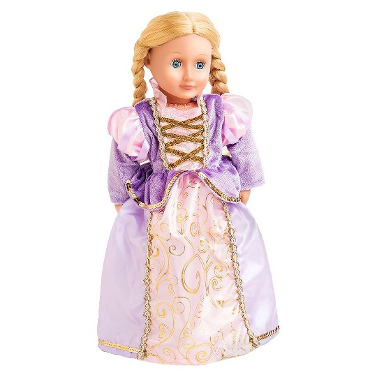 Little Adventures Doll Dress - Classic Rapunzel, Girl's, Size: Small, Gold/Purple image number null