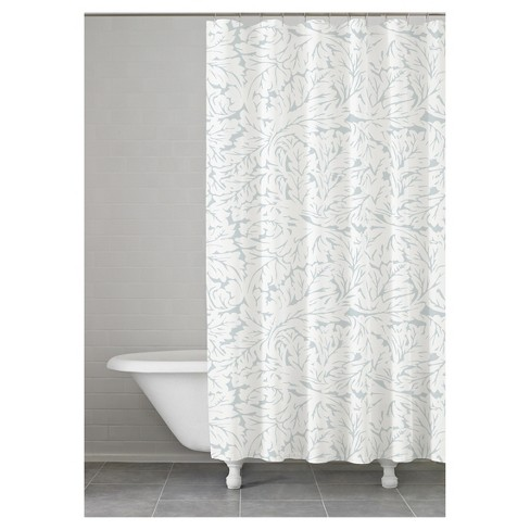 Foglia Shower Curtain Taupe Kassatex