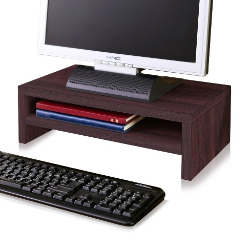 Eco Friendly 2-Shelf Monitor Stand Riser Espresso - Way Basics - image 1 of 4