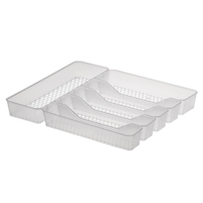 "13""x16"" Hexa Clear 6-Divider Silverware Tray Clear - Spectrum Diversified"