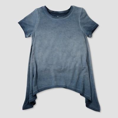 Toddler Girls' Afton Street Short Sleeve Double Dip T-Shirt - Navy 18 M
