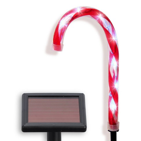 Philips 6ct Christmas LED Solar Candy Cane Lawn Stakes Cool White - image 1 of 3