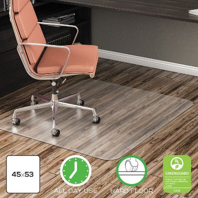 """3'9""""x4'5"""" Rectangle Solid Office Chair Mat Clear - Deflecto"""