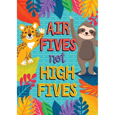 One World Air Fives, Not High Fives Poster - Carson Dellosa
