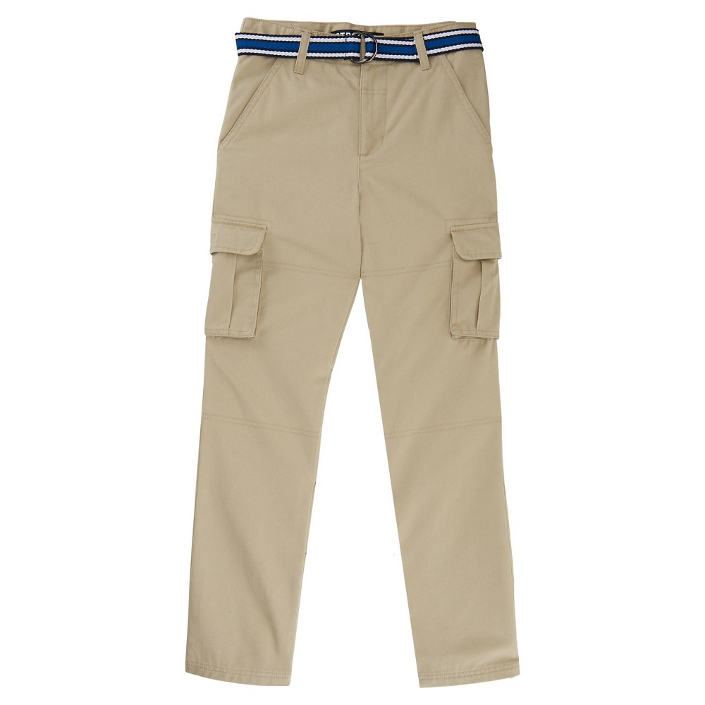 French Toast Boys' Uniform Cargo Pants - Khaki (Green) 18