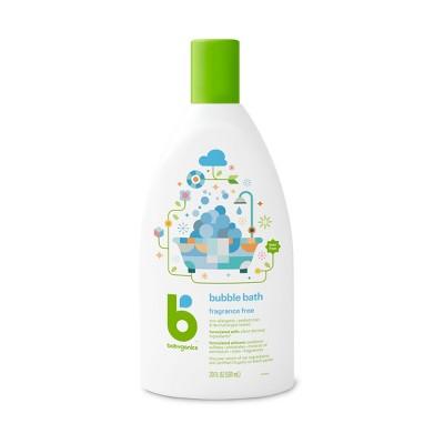 Babyganics Baby Bubble Bath, Fragrance Free - 20oz Bottle