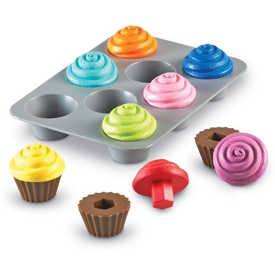 Learning Resources Smart Snacks Shape Sorting Cupcakes image number null