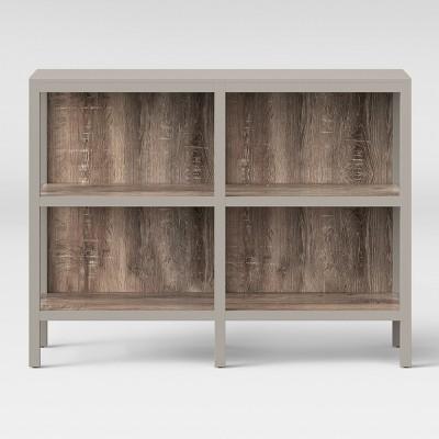 Hadley 36.2  Horizontal Bookcase - Gray - Threshold™