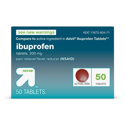 Ibuprofen (NSAID) Pain Reliever & Fever Reducer Tablets - up & up™ - image 1 of 4