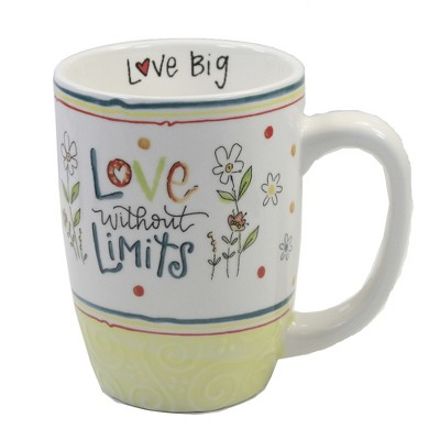 """Tabletop 4.75"""" Love Without Limits Mug Coffee Cup Flowers Brownlow Gifts  -  Drinkware"""