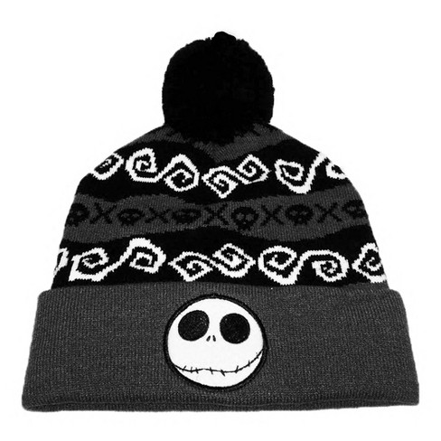 Nightmare Before Christmas Jack Pom Knit Hat - image 1 of 1