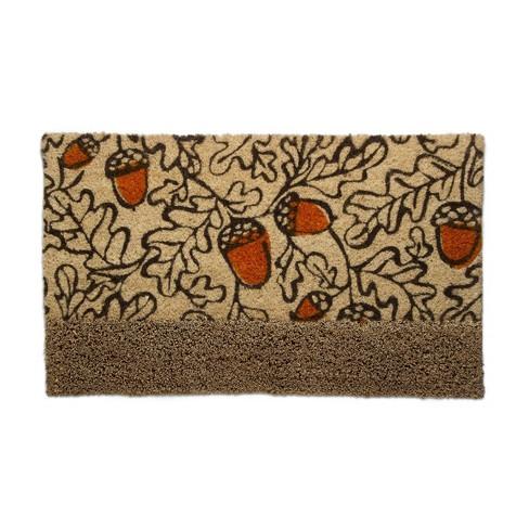 TAG Fall Autumn Acorn Bootscrape Coir Doormat Indoor Outdoor Welcome Mat - image 1 of 3