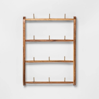 "24"" x 18"" Acacia Wood Mug Rack Brown - Threshold™"
