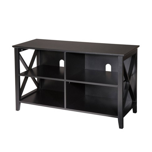 "40"" Traditional X Frame TV Stand Espresso Brown - Glitzhome - image 1 of 6"
