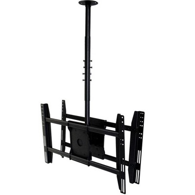 Monoprice Dual Sided Ceiling TV Mount Bracket - For TVs 32in to 52in, Max Weight 125lbs, Extension Range of 39.4in to 59