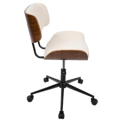 Lombardi Mid Century Modern Office Chair W/Swivel   LumiSource : Target