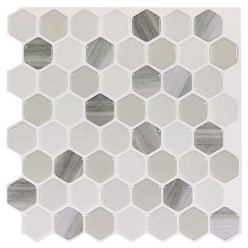 Decor 5 Pack Peel & Stick Mosaic Tile - Moon Hex - image 1 of 5