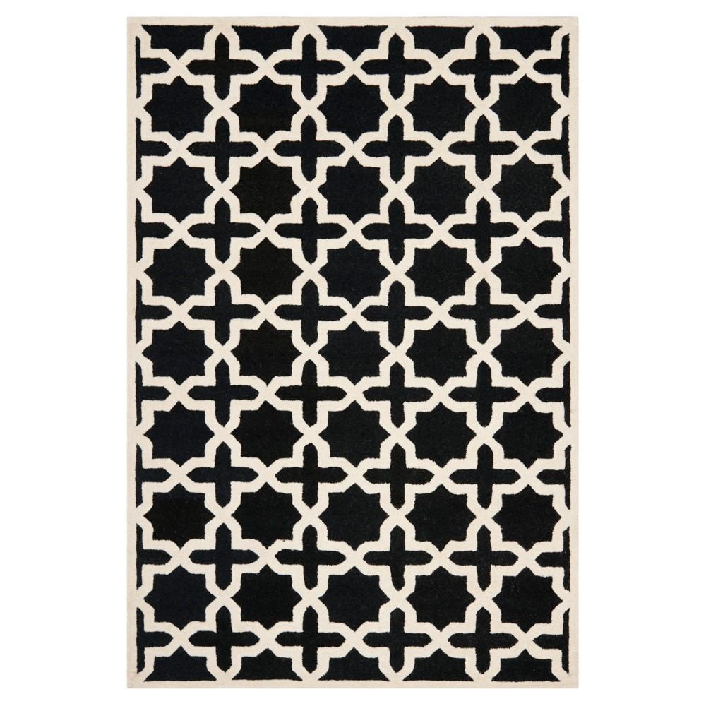 5'X8' Geometric Area Rug Black/Ivory - Safavieh