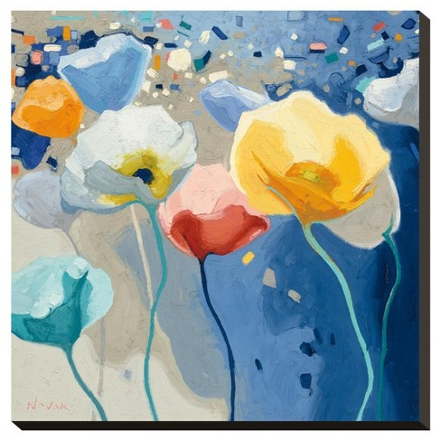 Bleusy By Shirley Novak Stretched Canvas Print - image 1 of 2