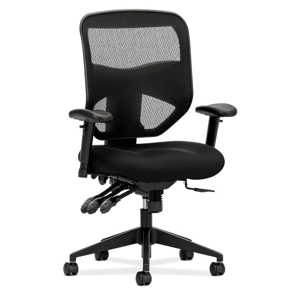 Prominent High Back Task Chair with Arms Black - Hon