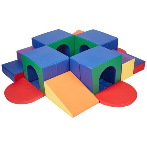 ECR4Kids SoftZone Tunnel Maze - Beginner Toddler Climber for Safe Active Play- Fun Early Development Obstacle Toy - 4 Tunnels - image 1 of 4