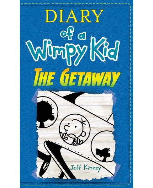 Diary of a Wimpy Kid : The Getaway -  Large Print by Jeff Kinney (Hardcover) - image 1 of 1