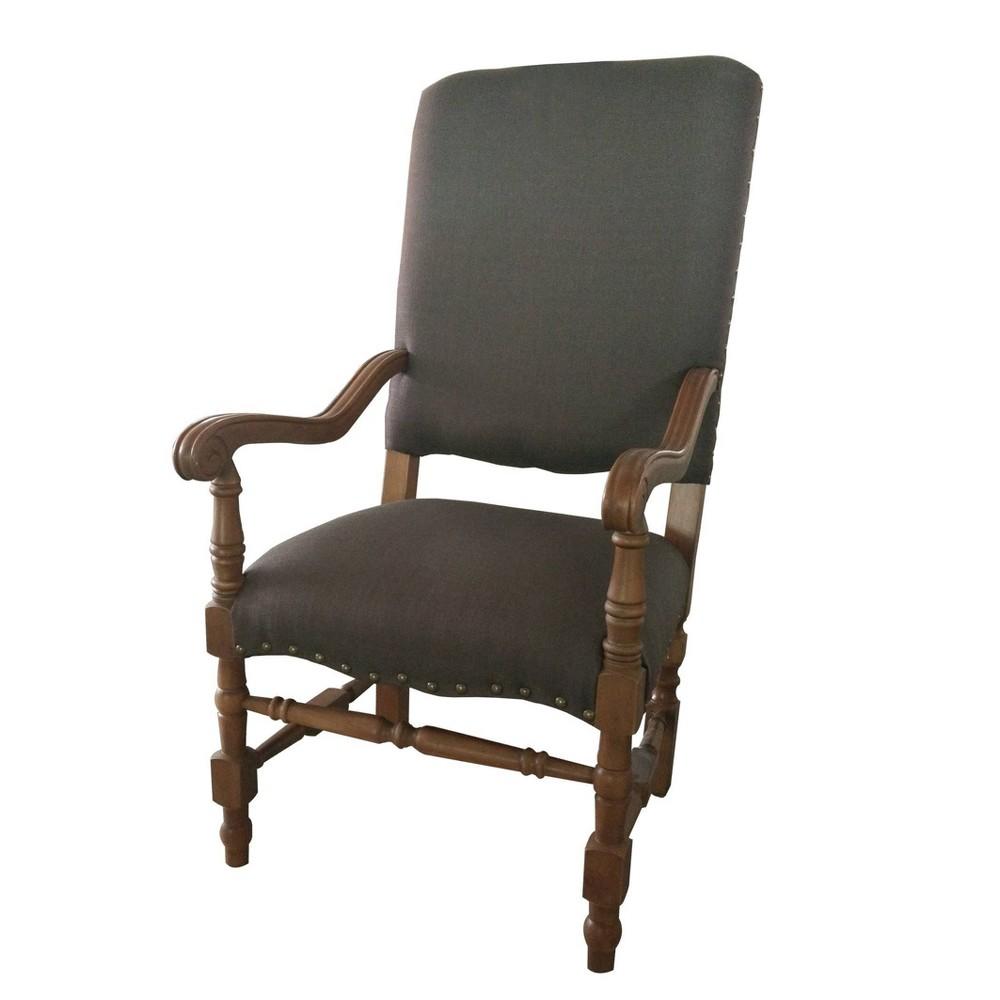 Alba Upholstered Armchair Black A 38 B Home