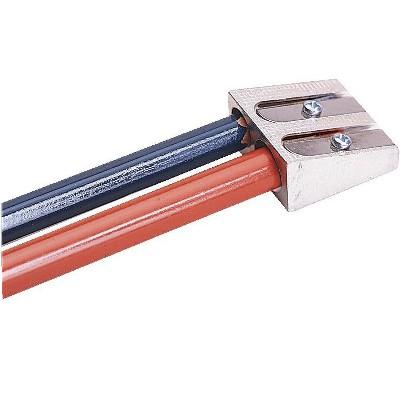 School Smart 2-Hole Handheld Pencil Sharpeners, Silver, pk of 12