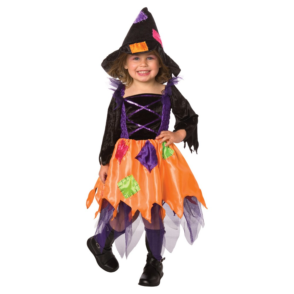 Girls' Patchwork Witch Toddler Costume 1-2t, Size: 12-24M, Multicolored