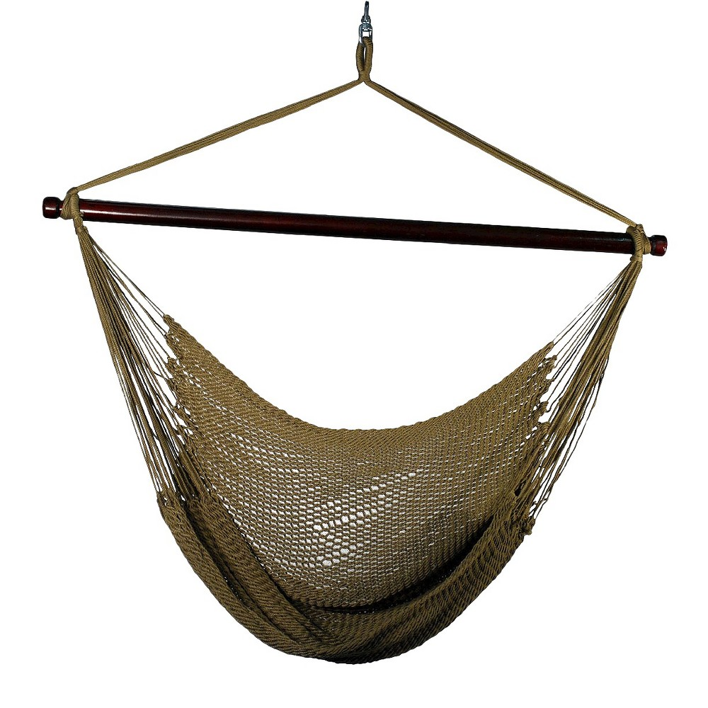 Outdoor Hanging Caribbean Rope Chair - Tan