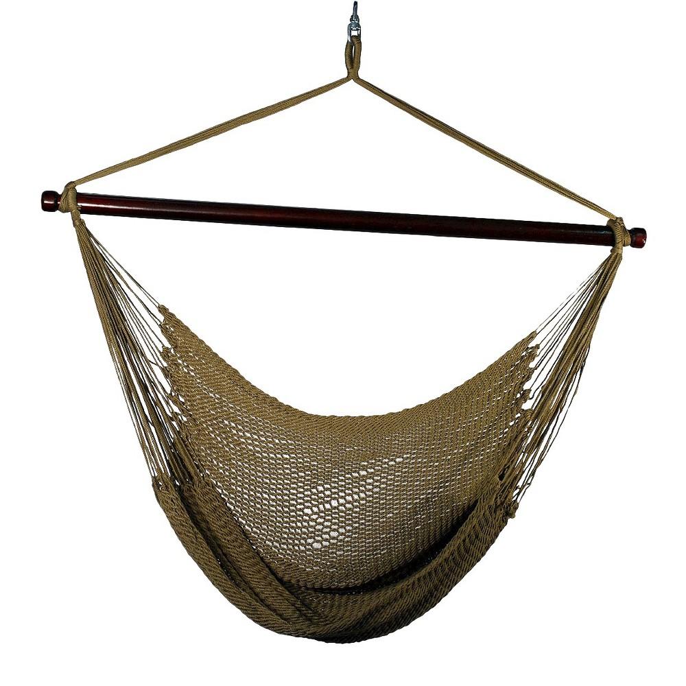 Outdoor Hanging Caribbean Rope Chair Tan
