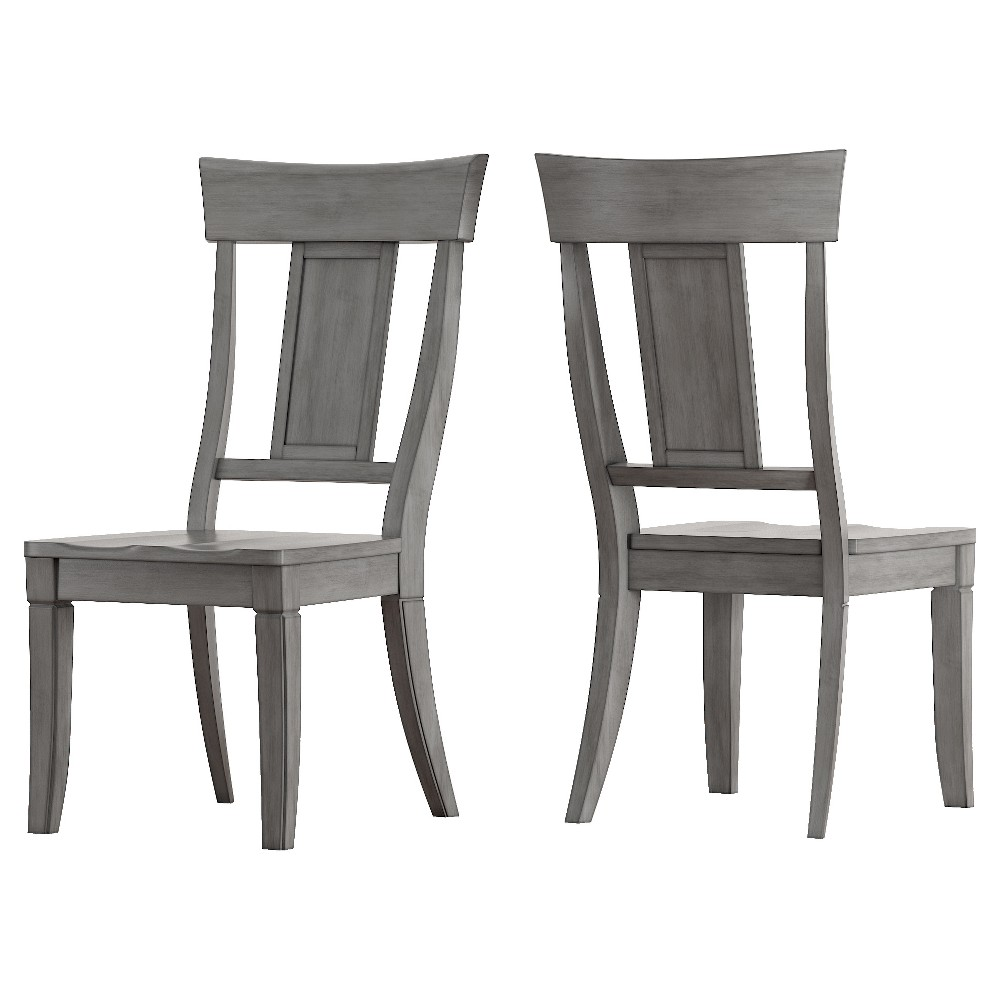 South Hill Panel Back Dining Chair (Set of 2) - Antique Gray - Inspire Q