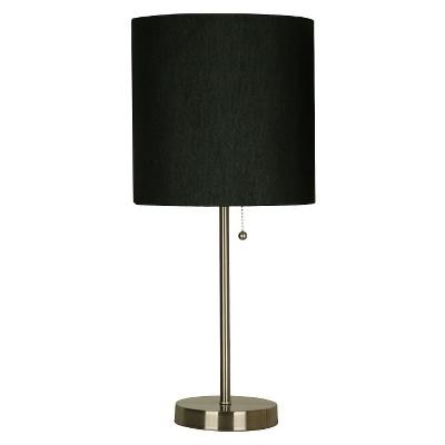 Stick Lamp Black Includes Energy Efficient Light Bulb - Room Essentials™