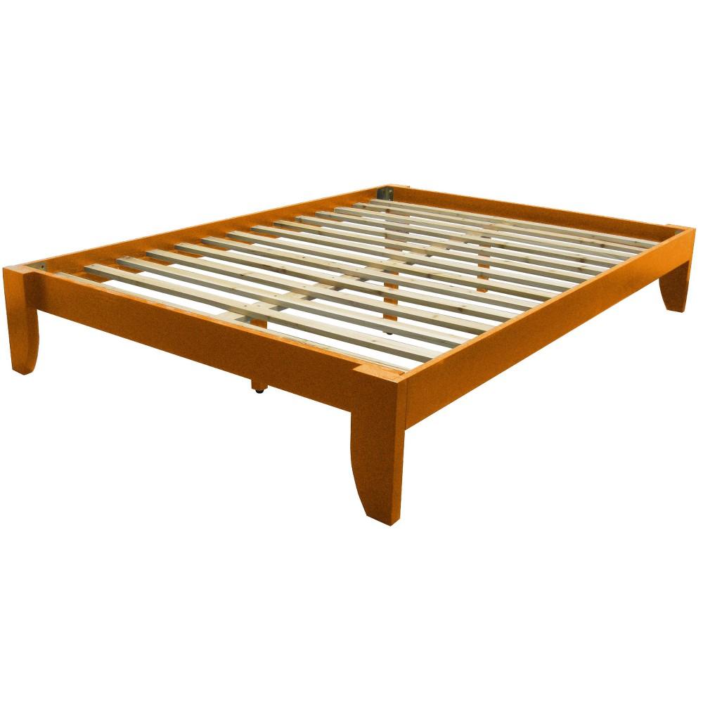 Gibraltar Solid Bamboo Wood Platform Bed Frame - Epic Furnishings, Oak Finish