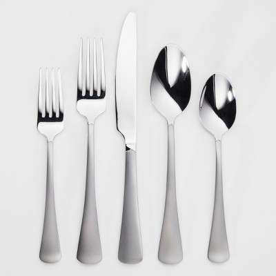Knollwood 20pc Silverware Set Sand Blast Finish - Threshold™