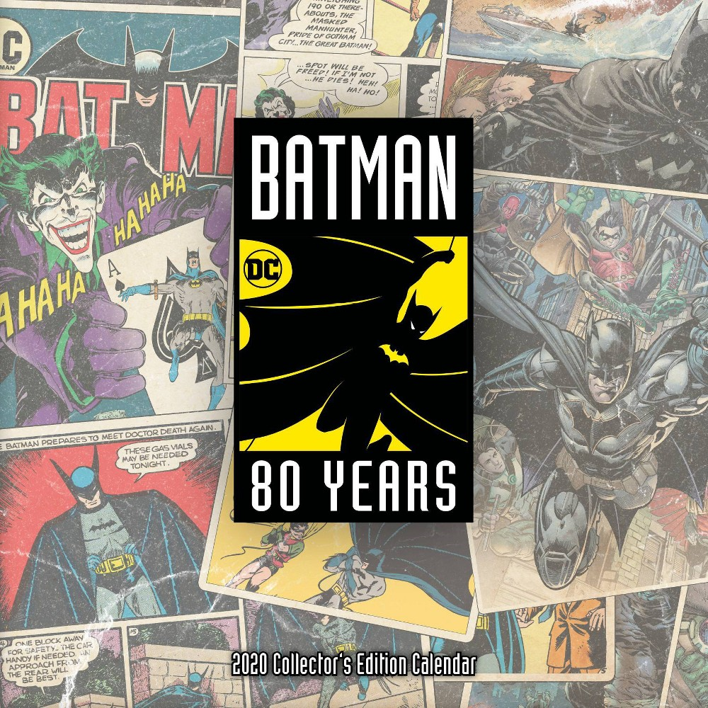 Image of 2020 Calendar Collector's Edition Batman 80th Anniversary - Trends International