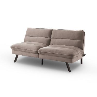 Cedra Angled Legs Futon Sofa Gray - HOMES: Inside + Out