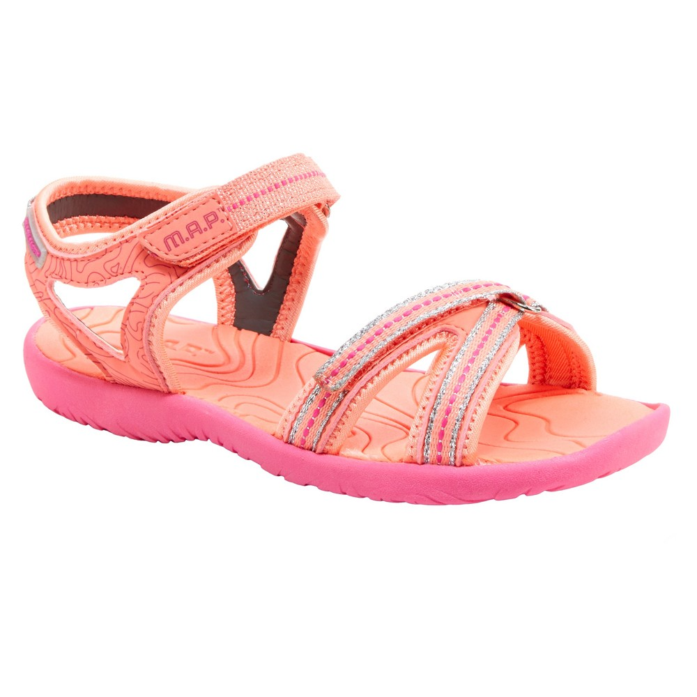 Toddler Girls' M.A.P. Ankle Strap Sandals - Coral 7, Pink
