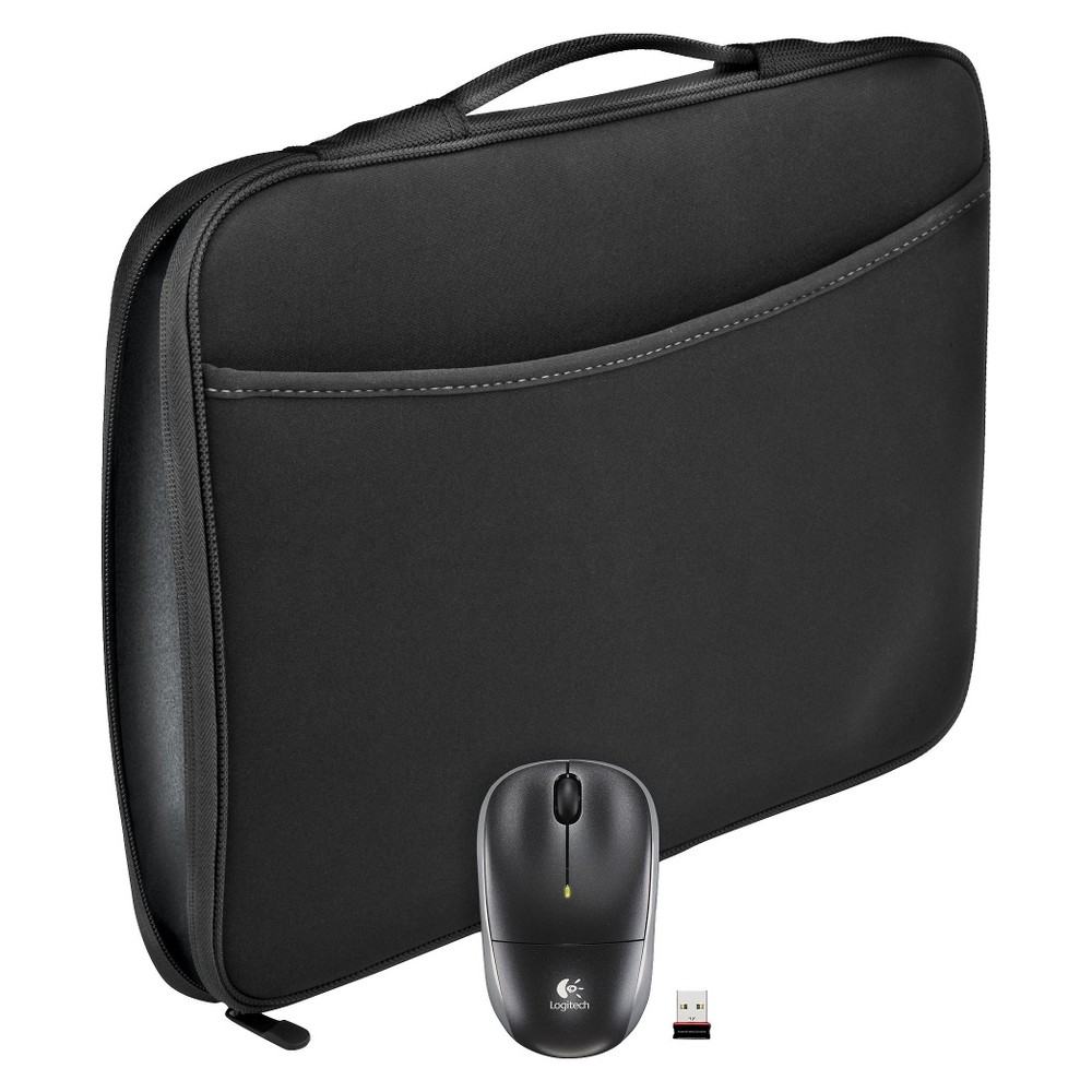 Logitech Laptop Sleeve with Mouse - Black (910-002138)