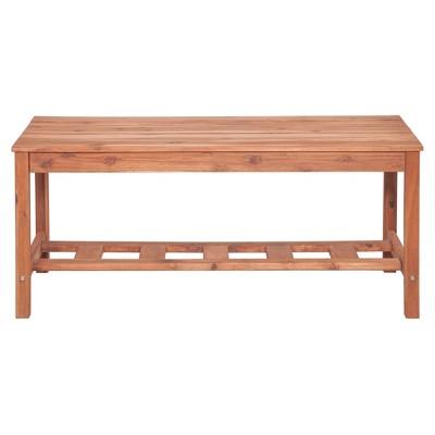 Acacia Wood Ladder Base Coffee Table Brown - Saracina Home