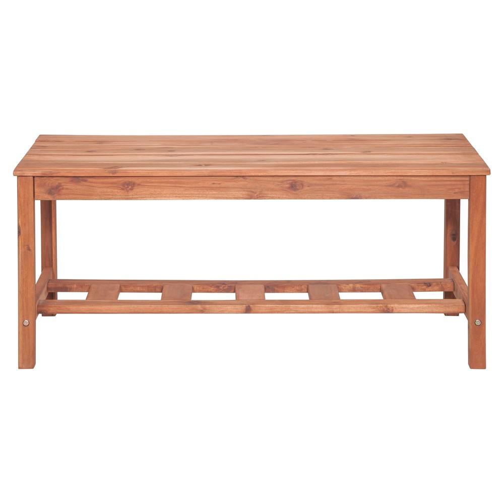Image of Acacia Wood Ladder Base Coffee Table Brown - Saracina Home