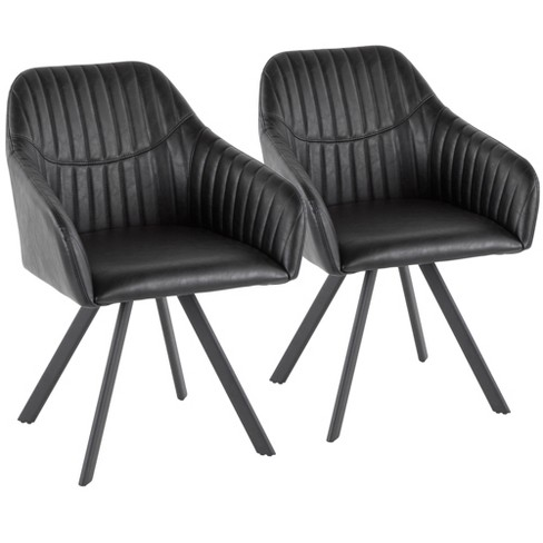 Set of 2 Clubhouse Contemporary Pleated Chair - LumiSource - image 1 of 4