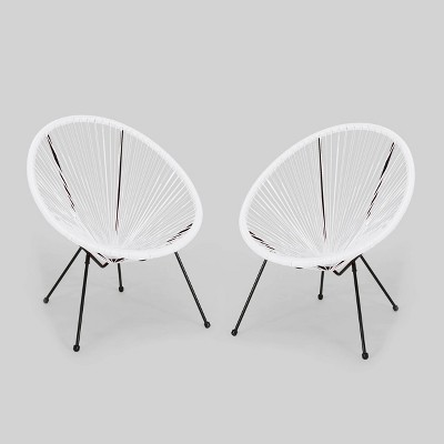 Anson 2pk Hammock Weave Chair White - Christopher Knight Home