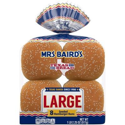 Mrs. Baird's Large Sesame Hamburger Buns - 18.25oz