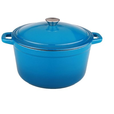 BergHOFF Neo 5 Qt Cast Iron Oval Covered Casserole, Blue